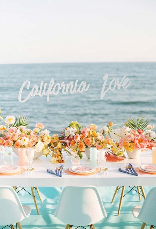 Mini wedding com decoração litorânea