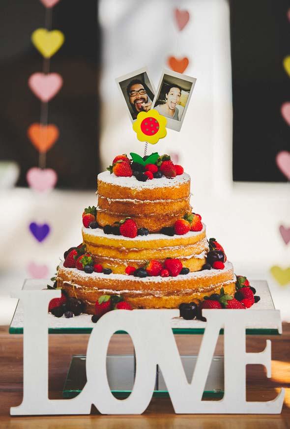 Topper personalizado para o bolo