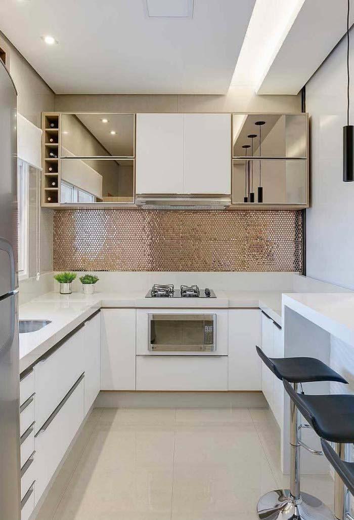 Pastilhas brilhantes para dar um toque de luxuosidade a cozinha