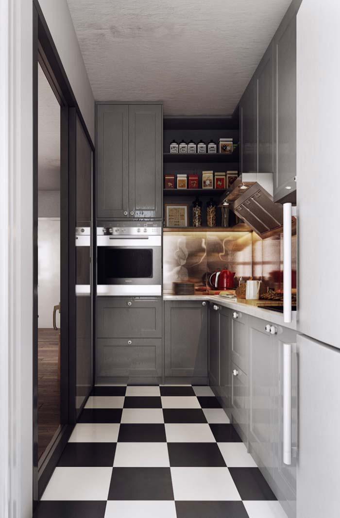 Decoração variada nos nichos da cozinha decorada