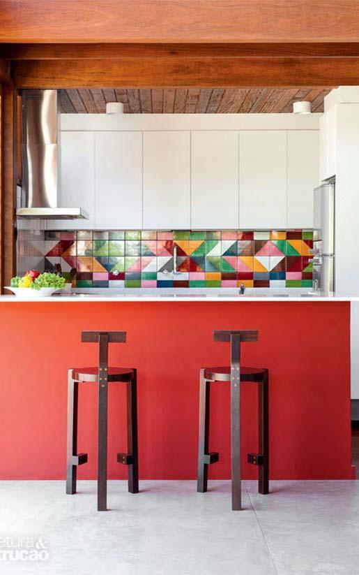 Cozinha decorada: banquetas de design original
