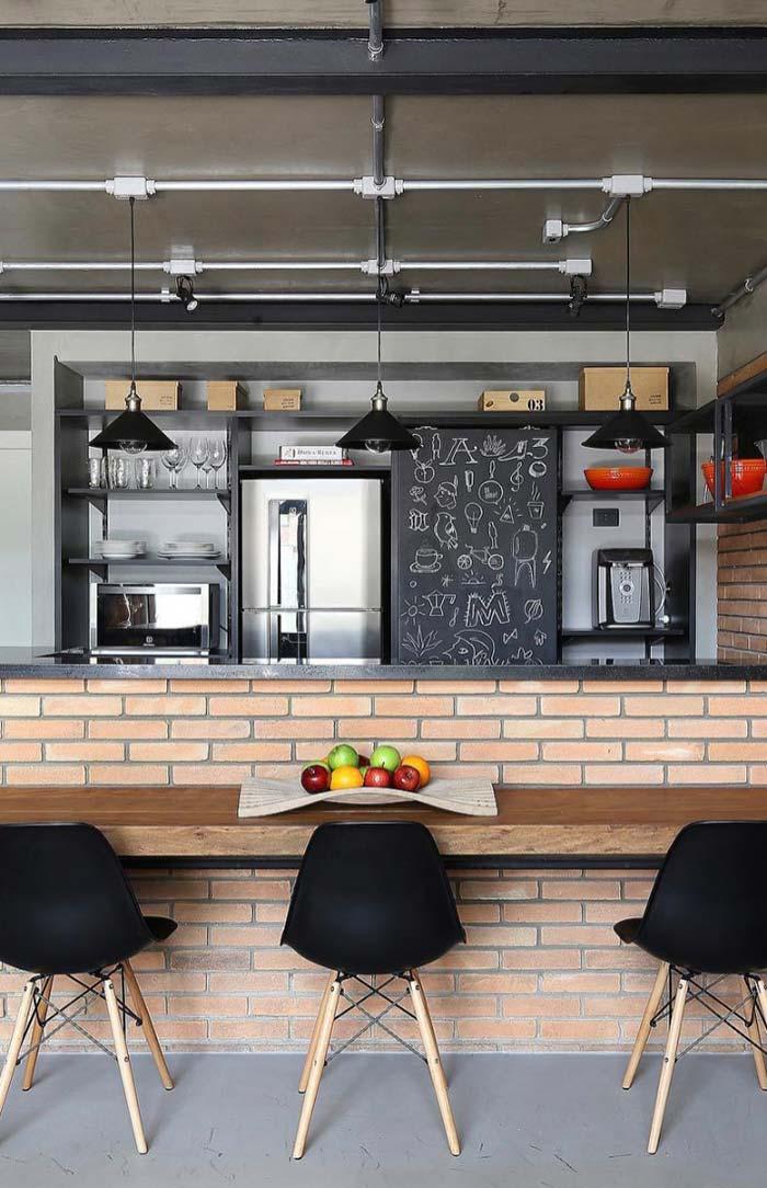 Fruteira na cozinha decorada