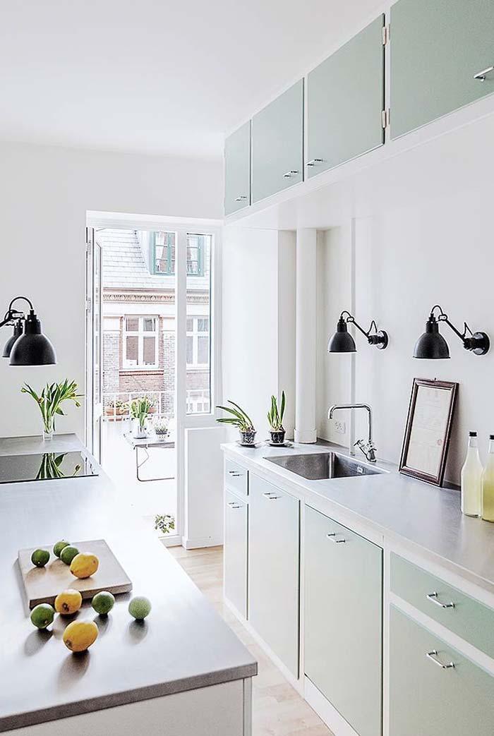 Na cozinha branca