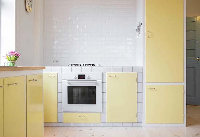 Cozinha decorada: amarelo traz sensações de aconchego e acolhimento para a decoração da cozinha