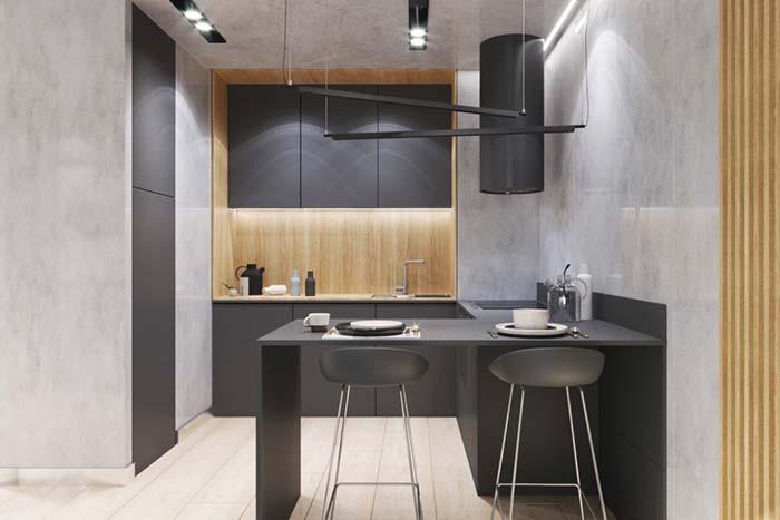 Objetos no mesmo tom dos armários ajudam a decorar sem fugir do estilo clean do ambiente
