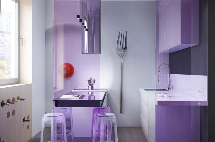 Cozinha decorada com elementos originais e cheios de personalidade
