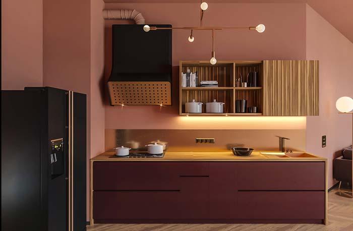 Coifa de design original decora a cozinha com sofisticação