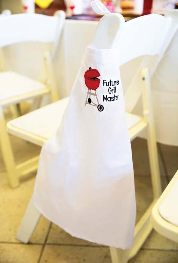 Avental especial para o churrasqueiro