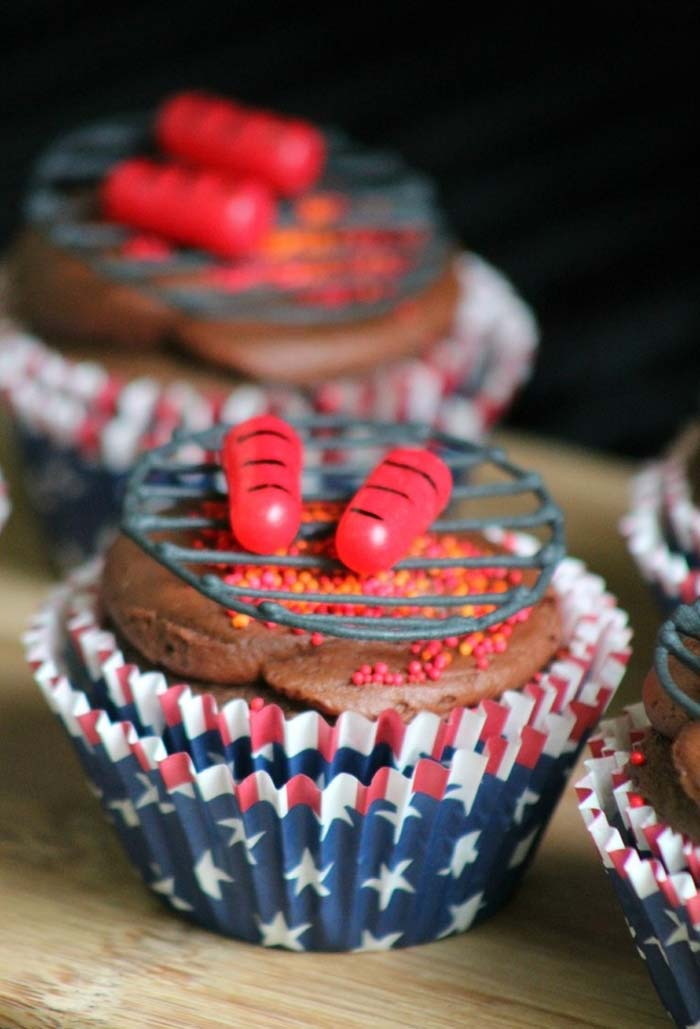 Cupcakes como sobremesa do churrasco
