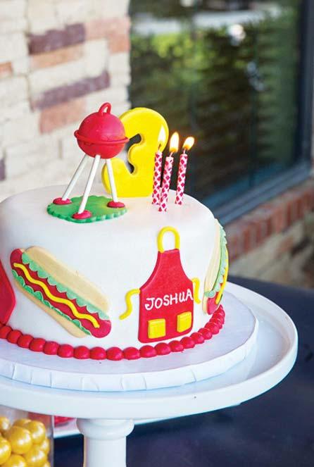 Decoração para churrasco de aniversário