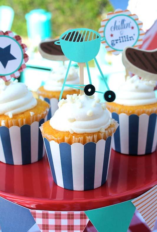 Cupcakes como sobremesa dentro do tema