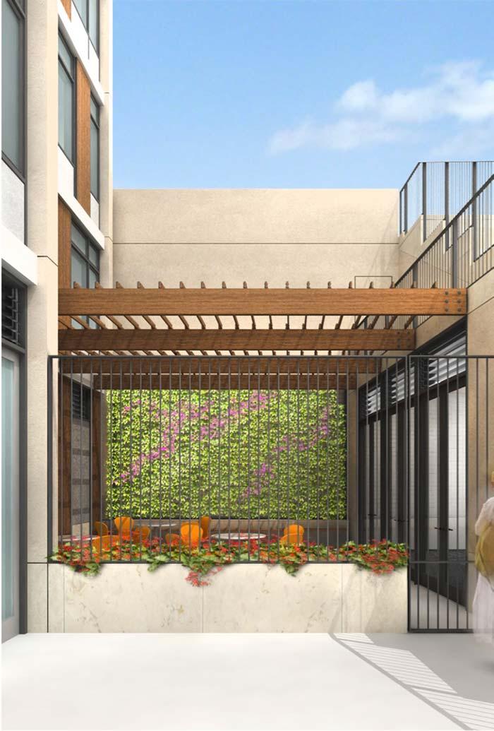 Pergolado de madeira é opção para as tradicionais lajes de concreto