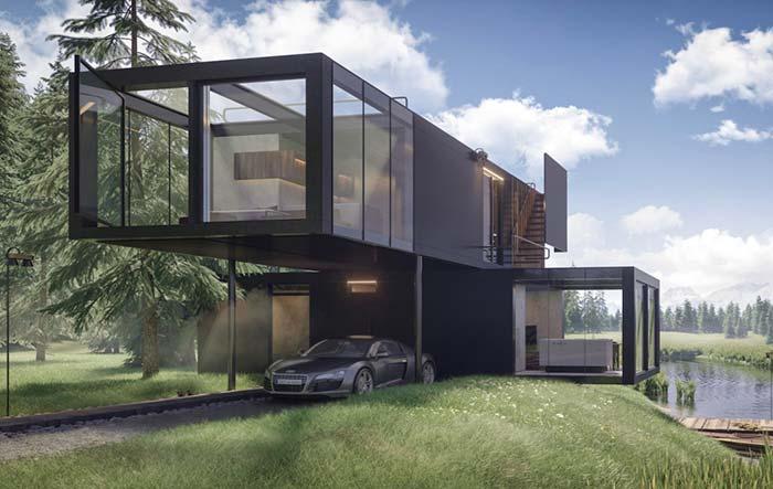 Crie uma arquitetura única que usufrua da melhor forma seu terreno