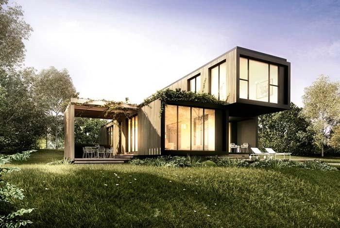 Casa pré-fabricada em container