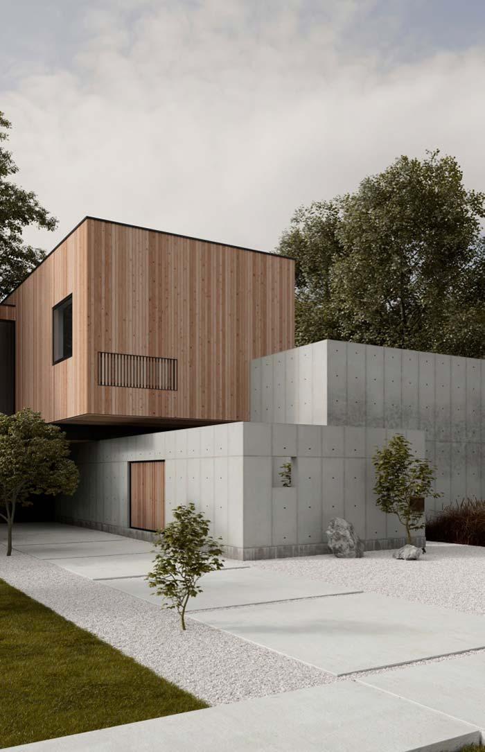 O encontro dos módulos em uma composição arquitetônica