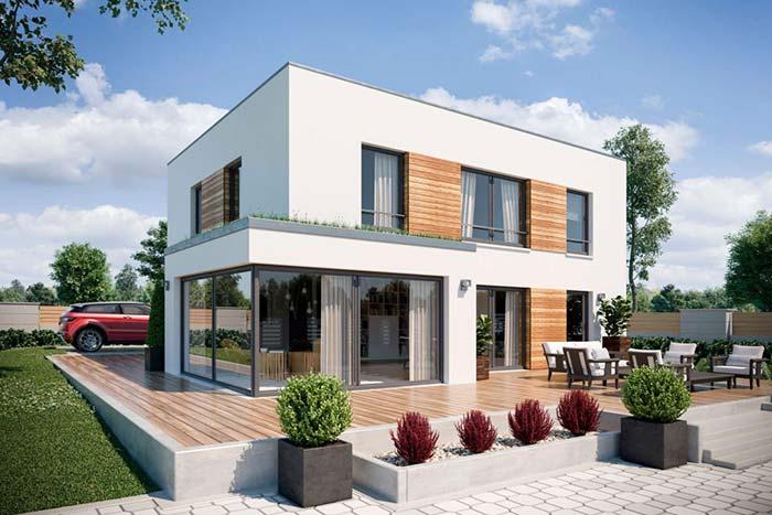 A platibanda permite um visual mais clean e moderno para a construção