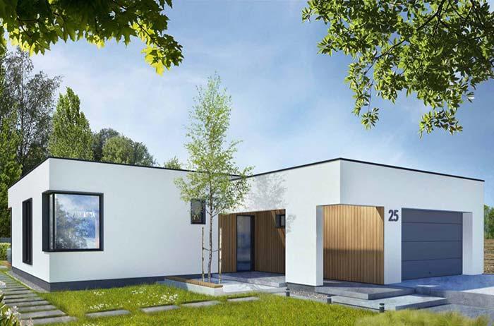 Casa pré-fabricada em linhas retas e modernas