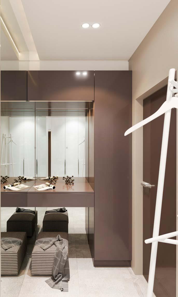 Iluminação nas sancas de gesso também são ótimas para closets
