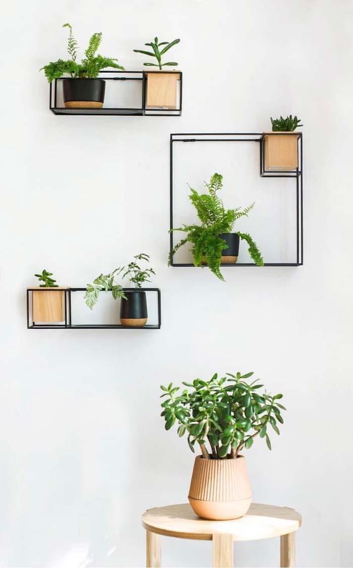 Conceito minimalista para horta vertical