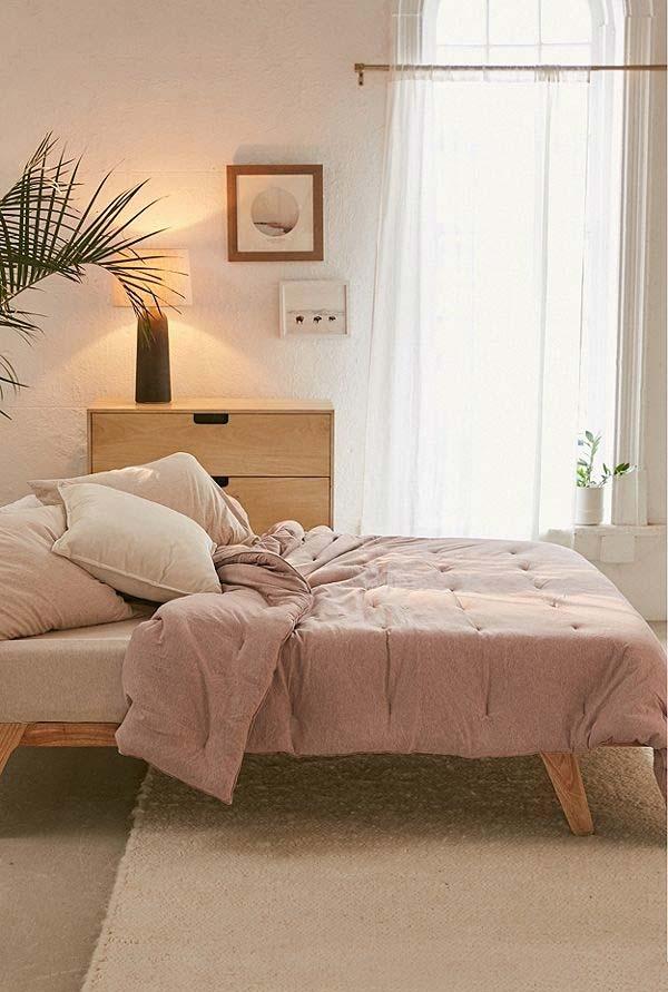 O rosa pastel num ambiente que segue as tendências contemporâneas