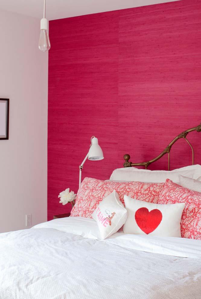 Para um toque de ousadia no quarto rosa