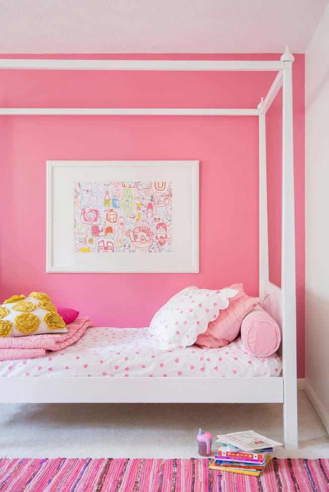 Quarto rosa pink e branco para crianças e jovens
