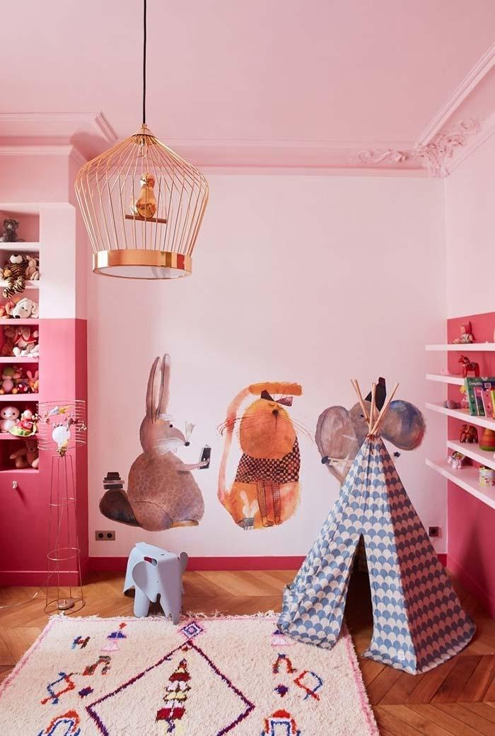Contos de fada no quarto rosa