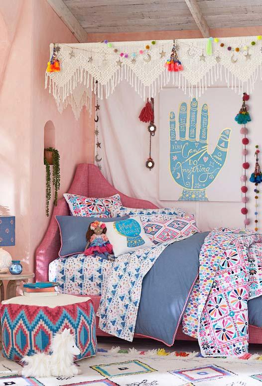 Mais um quarto no estilo boho chic