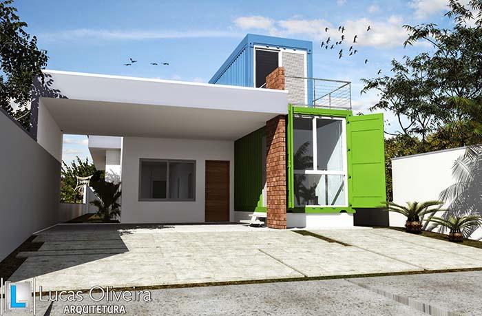 Modelo de casa de alvenaria moderna