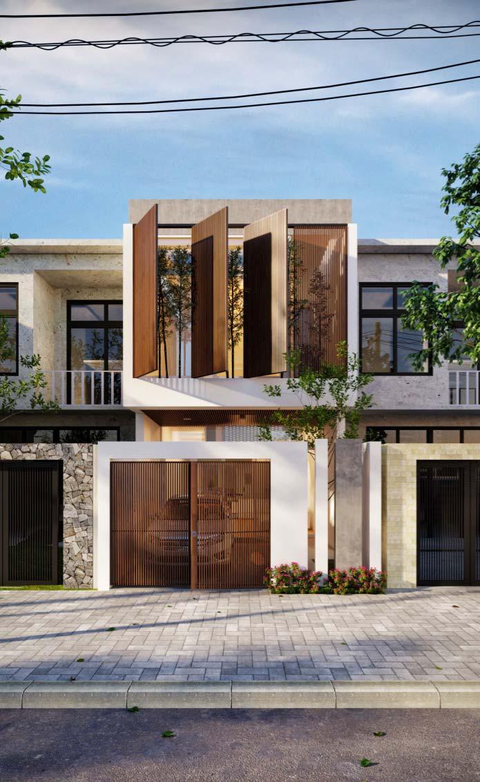Modelo de casa de dois andares