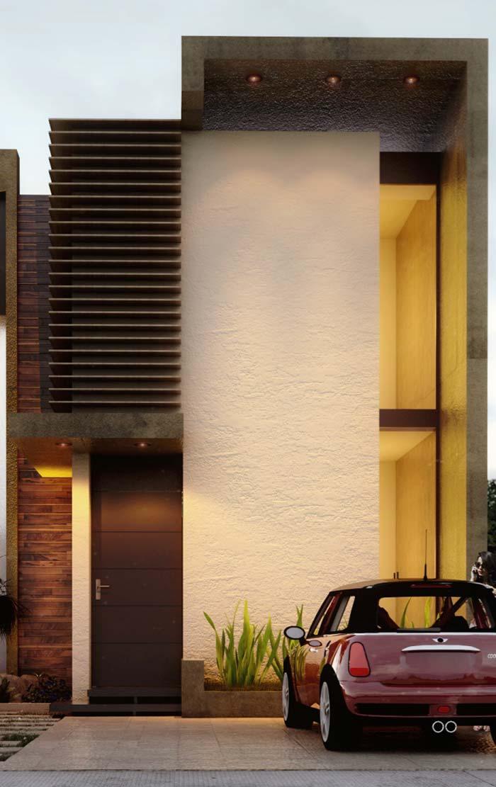 Fachada moderna de concreto