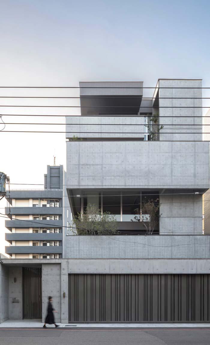 Modelo de casa com cor de concreto