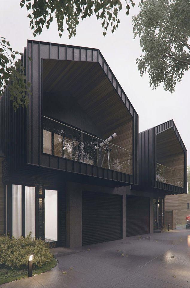 Modelos casas geminadas de madeira e metal