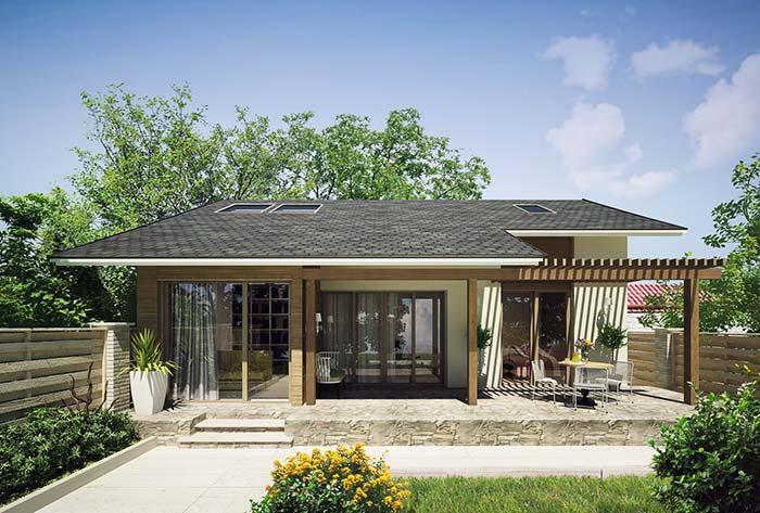 Modelo de casa simples bem iluminada
