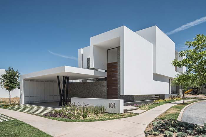 Branco e cinza são as cores das construções modernas