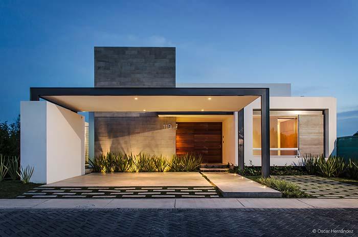 Modelo de casa com projeto luminotécnico