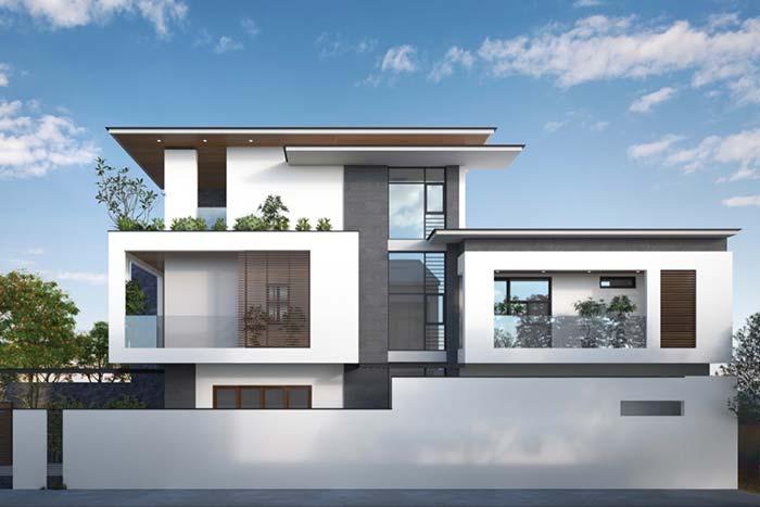 Modelo de casas cheias de recortes