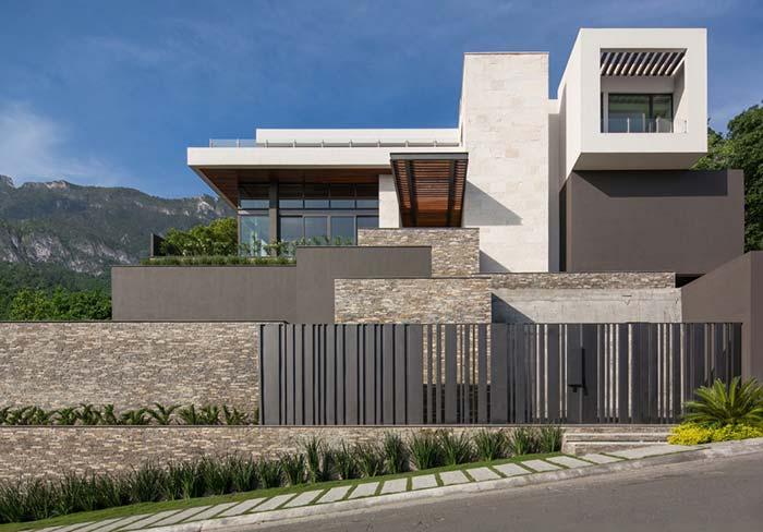 Pedras para valorizar a fachada da casa