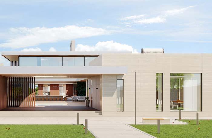 Cores claras no modelo de casa