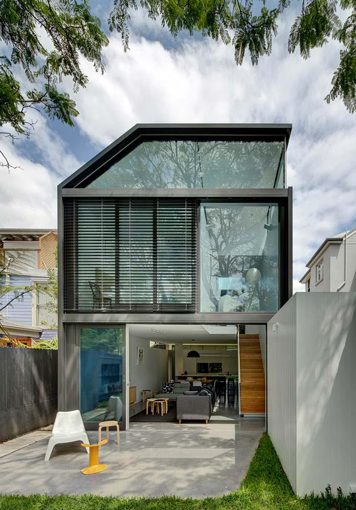 Modelo de casas de vidro