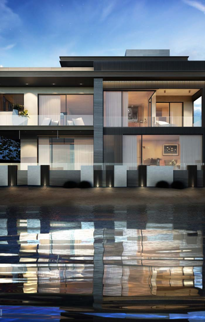 Modelo de casa de praia moderna