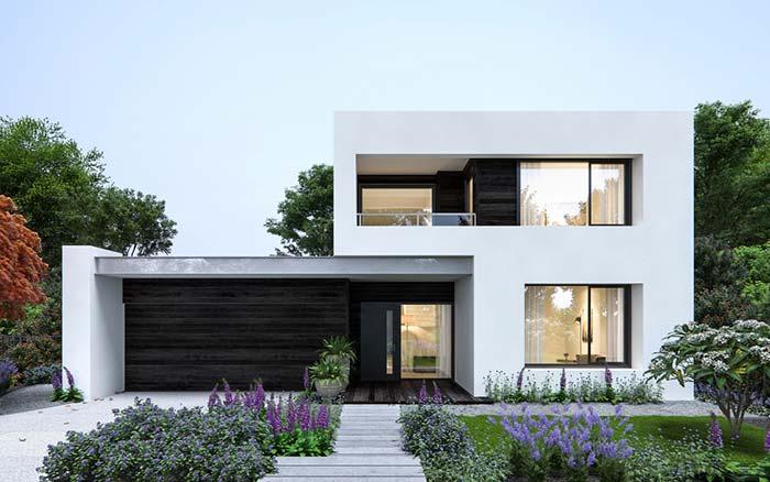 Casa de condomínio com jardim