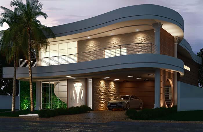 Modelos de casas com formas curvas