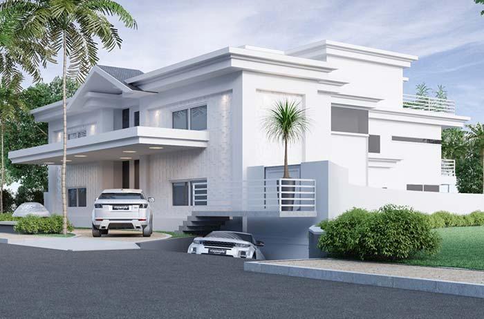 Modelo de casa de condomínio fechado