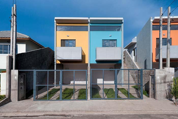 Modelo de casas geminadas