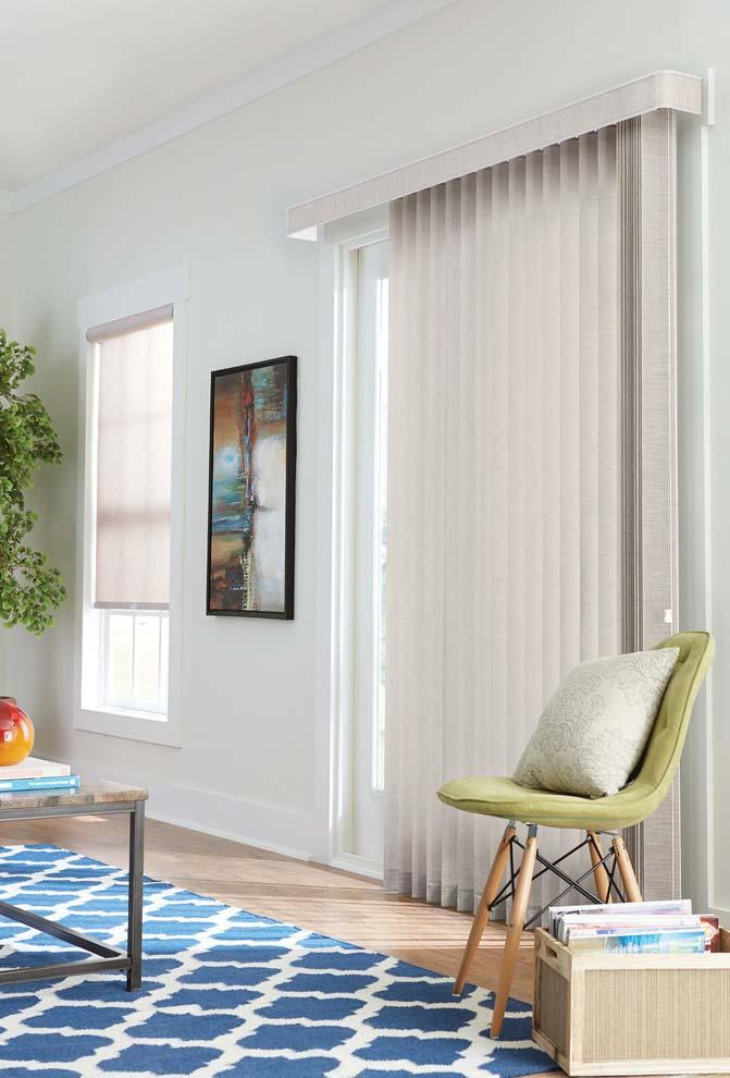 persiana vertical para sala de estar