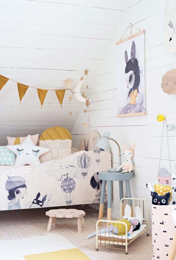 Ideia de decoração para quarto infantil feminino