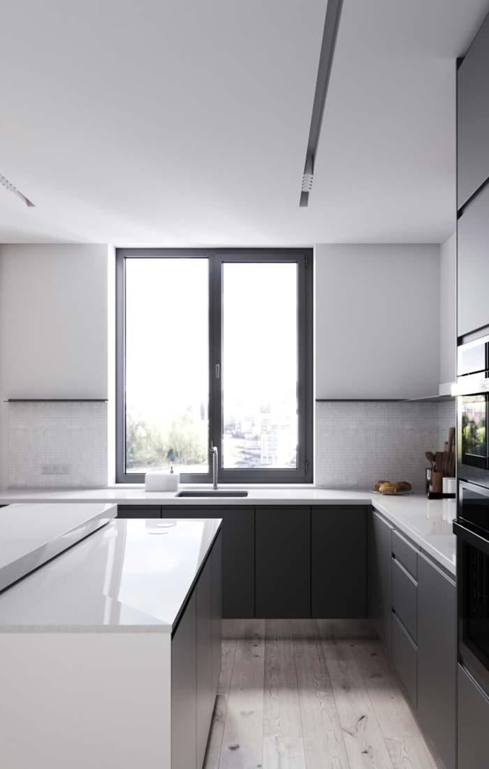 Cozinha moderna com rebaixamento de gesso