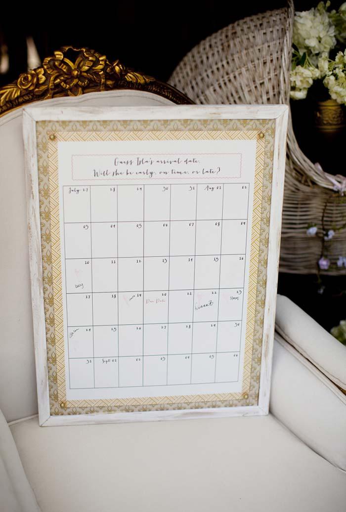 m calendário especial para uma contagem regressiva
