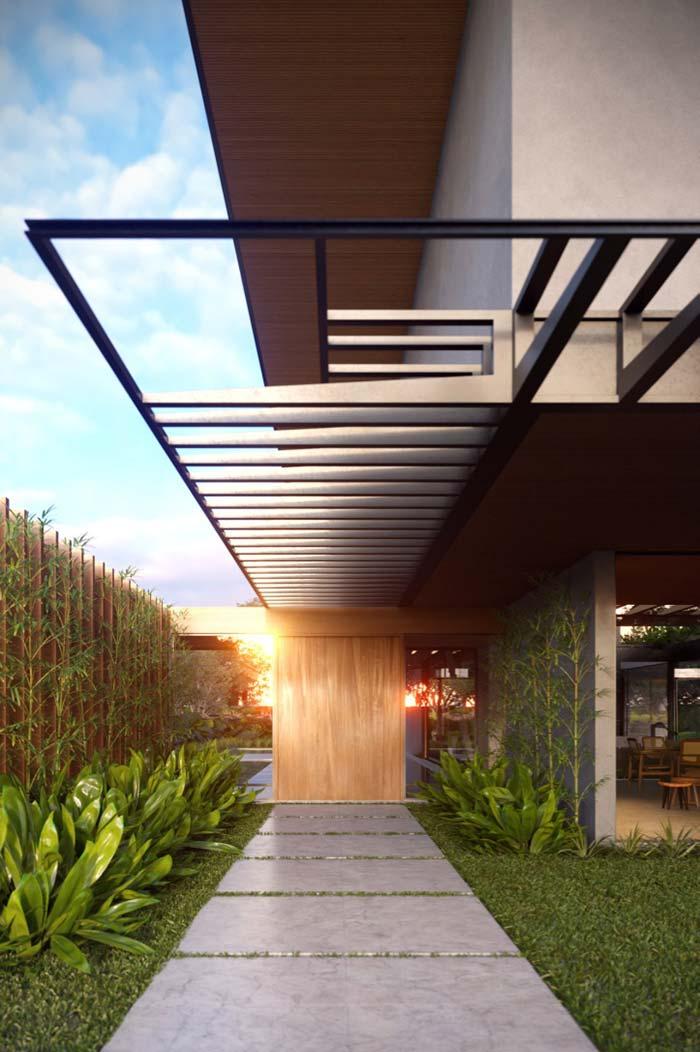 Casas modernas: áreas vazadas como dessa casa são outro marco da arquitetura moderna.
